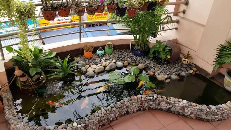 hồ cá koi mini ban công